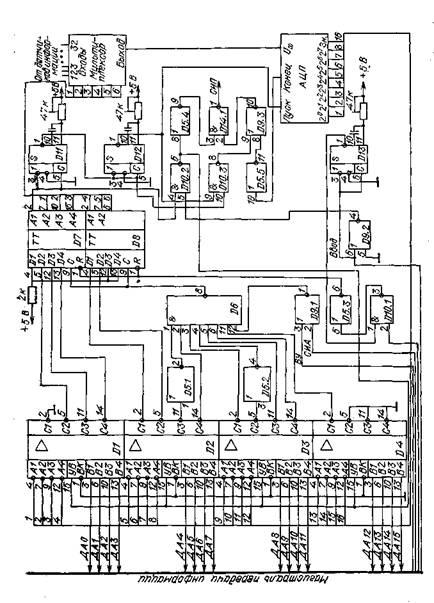 Схема подключения АЦП к