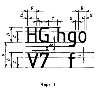 Шрифты чертежные утв постановлением