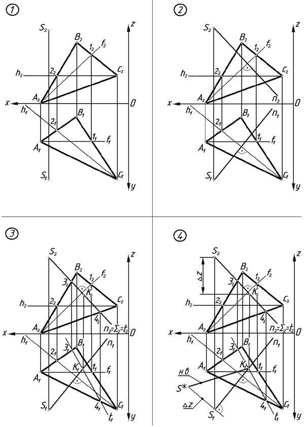 Решение задач по начертательной геометрии эпюры альтернативные способы решения задач