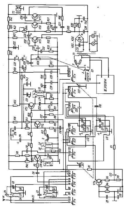 Принципиальная схема радиолы «