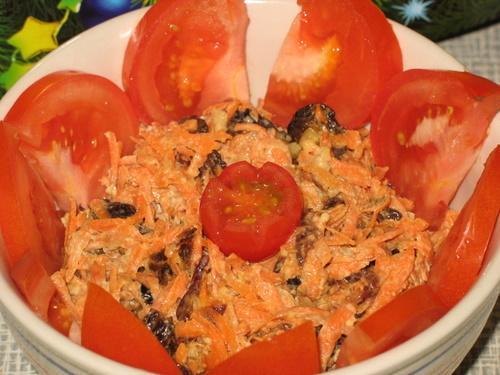 Морковь с черносливом рецепт с фото