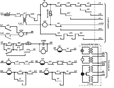 Схема управления огнями
