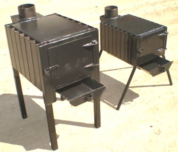 Отопительная металлическая печь своими руками