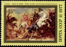 """П. Рубенс. """"Охота на львов"""". Эскиз. Около 1621 г."""
