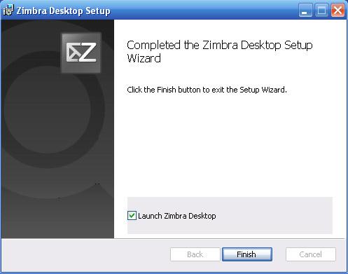 какие составляющие windows xp необходимы для клиента zimbra
