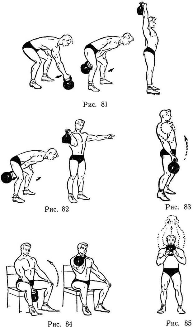 Тренировка с одной гирей в домашних условиях