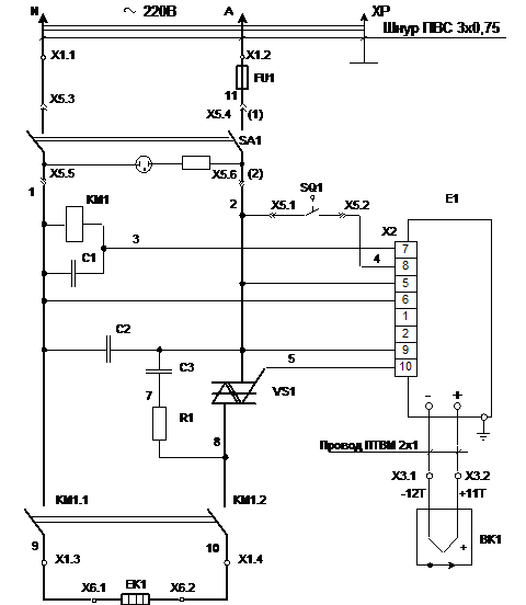 Муфельная печь принципиальная схема