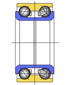 Cтупичные подшипники типа HUB-I - двухрядный радиально-упорный шариковый подшипник без уплотнений