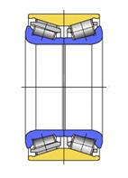 Cтупичные подшипники типа HUB-I - двухрядный радиально-упорный роликовый конический подшипник без уплотнений