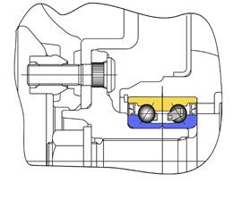 Пример конструкции ступичного узла HUB-I - с шариковым подшипником