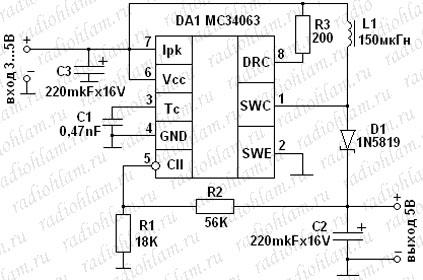 ОтветыMailRu Схема преобразования 12В DC ampgt 5В 500мА