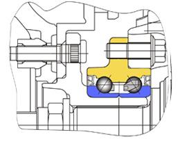 Cтупичные подшипники типа HUB-II - пример конструкции узла