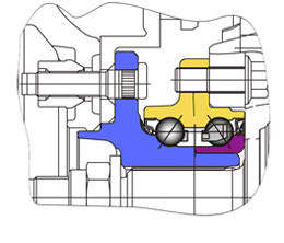 Cтупичные подшипники типа HUB-III - пример конструкции узла