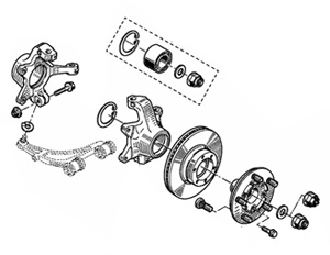 Эволюция ступичных узлов с тормозными дисками - стандартная конструкция