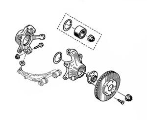 Эволюция ступичных узлов с тормозными дисками - узел с вентилируемым тормозным диском