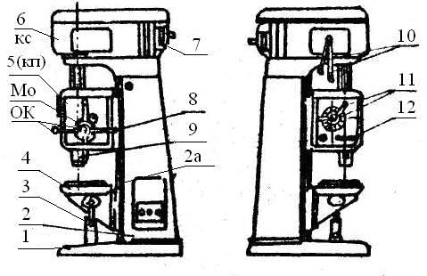 электродвигатель станка 7.
