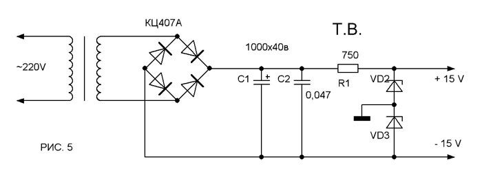 Операционные усилители (ОУ) типа КР574УД1А или КР544УД1А с соответствующей цепью коррекции.