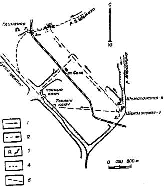 Схема местности в районе