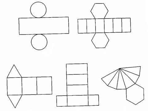 Объемные фигуры из картона своими руками схемы шаблоны 36