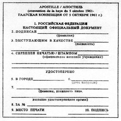 Апостиль документов гаагская конвенция