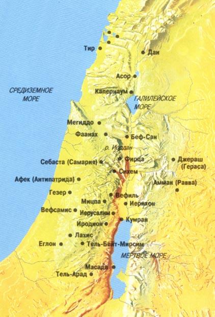 Схема маршрута Авраама (Л.17).