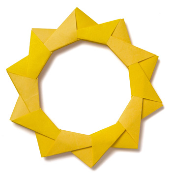 Как сделать оригами рамку из бумаги