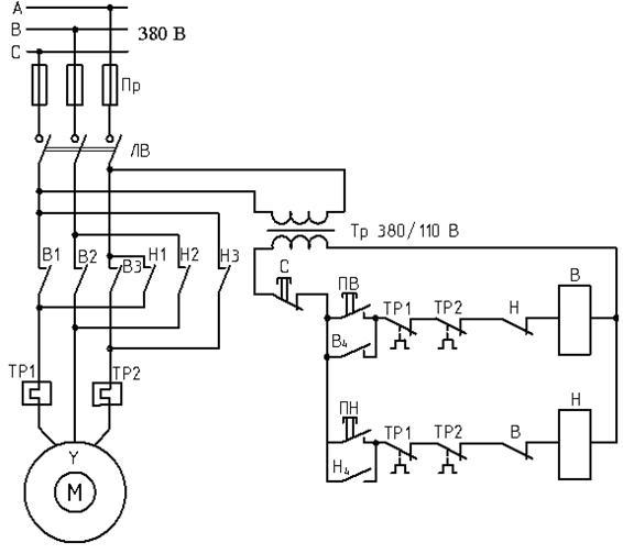 Схема электрическая шлифовального станка 111