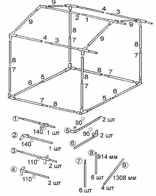 Схема торговая палатка