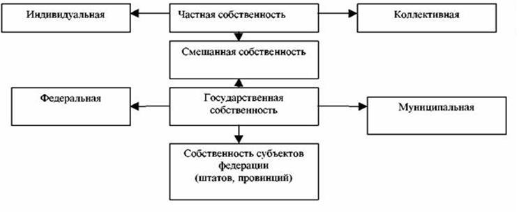 В современной рыночной экономике различные формы собственности, в том числе множество смешанных форм, таких как