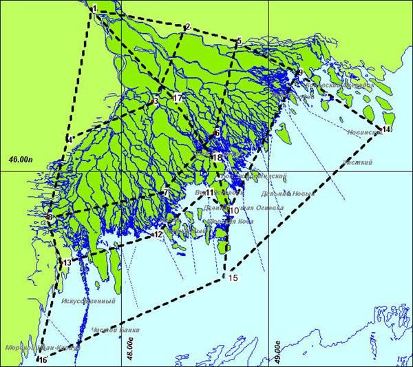 Карта-схема районирования