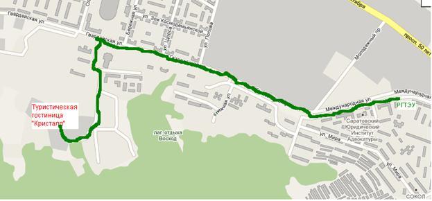 Схема проезда от 3-й Дачной до
