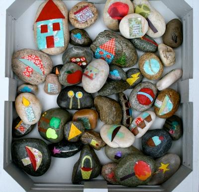 Поделки из морских камней для сада