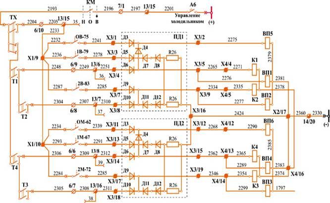 Схема управления охлаждающими