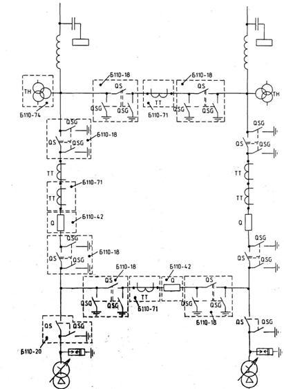 Мостик с выключателями в цепях