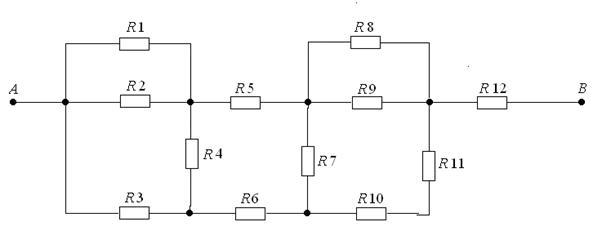 Контрольная работа по электротехнике и электронике стр  2 Составить схему электрической цепи постоянного тока с источником ЭДС Е с внутренним сопротивлением r0 при наличии потребителей электроэнергии