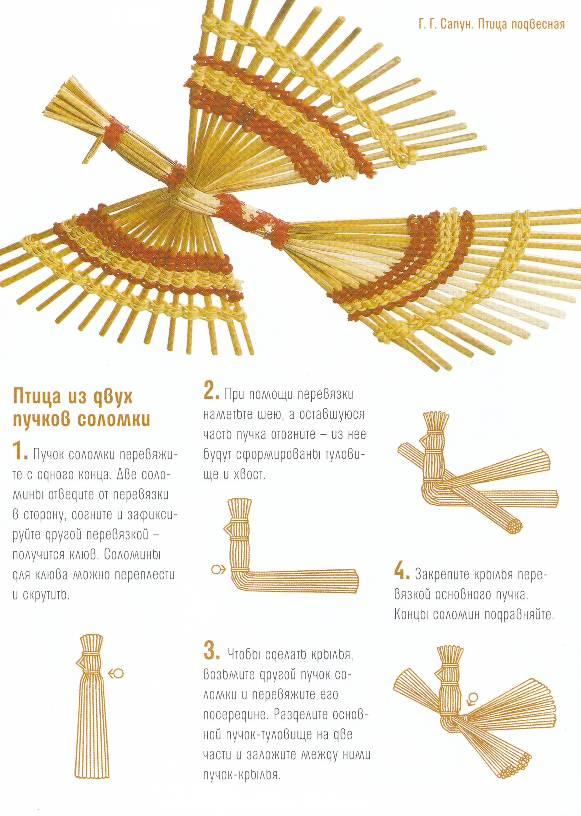Как сделать птичку из сена мк