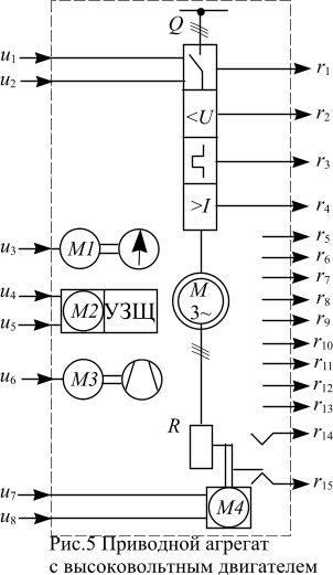 Схемы высоковольтных двигателей