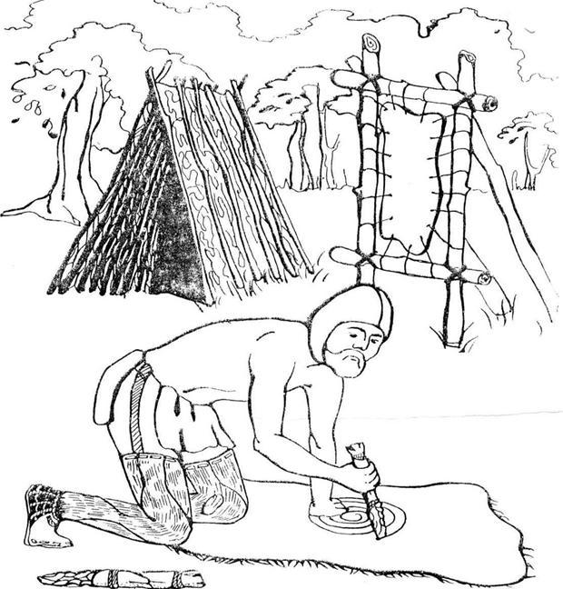 Рисунок о жизни первобытных людей