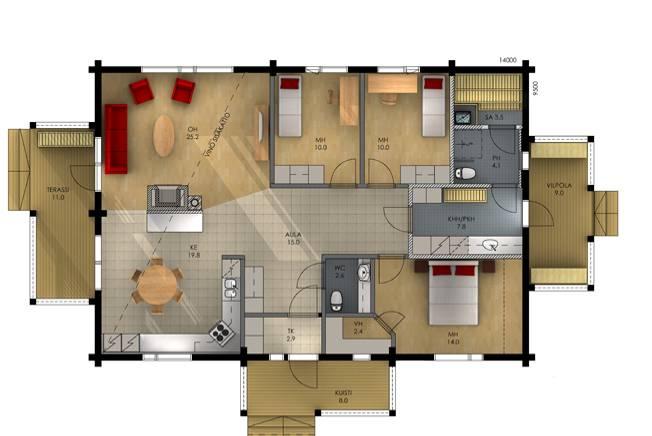 Внутренняя планировка дома фото