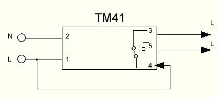 схема подключения таймера тм-41