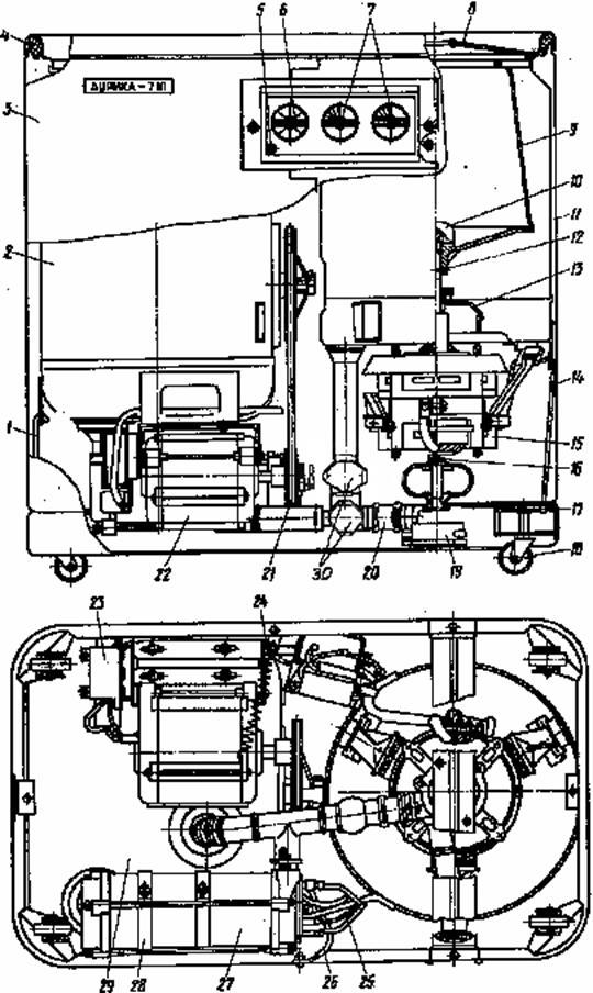 Схема стиральной машины (вид
