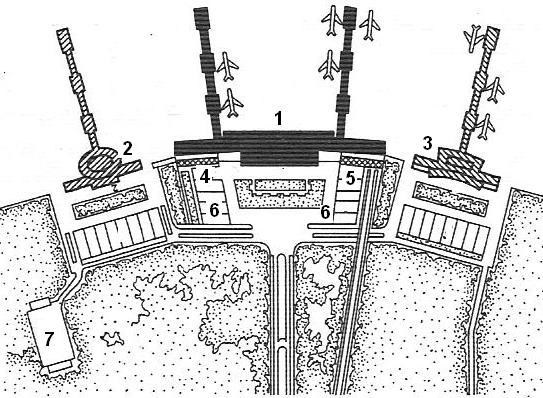 Схема генплана аэровокзала в