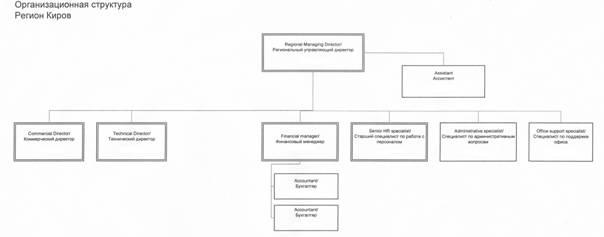 Отчет по производственной практике Контент платформа ru Структура организации в Кировской области