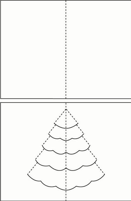 Горами, как сделать новогодние открытки своими руками из бумаги схема