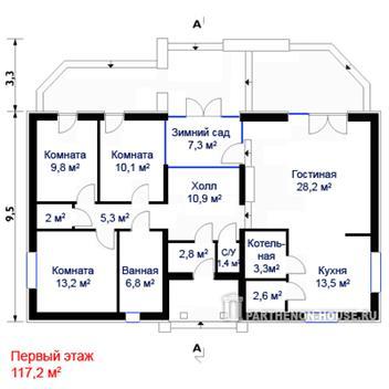Проекты одноэтажных домов ru - индивидуальное крупнейшая база. домов выбирают те, кто не планирует пенобетона