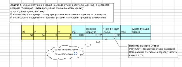 Эквивалентность процентных ставок задачи с решениями задачи с решением на межотраслевой баланс