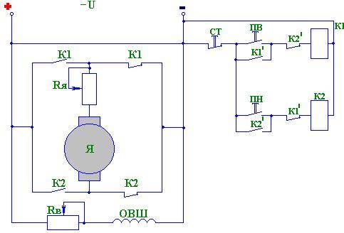 Схемы управление эл двигателем постоянного тока6