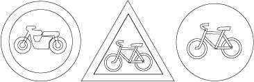 Раскраски дорожные знаки - 6