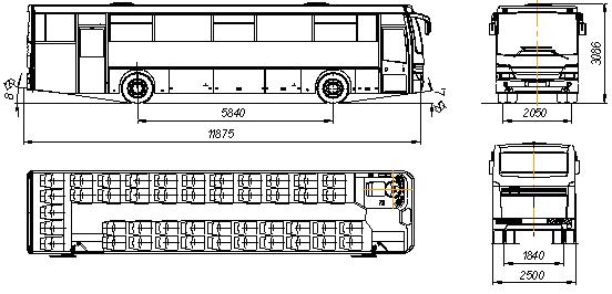 Автобус II класса НЕФАЗ37-32