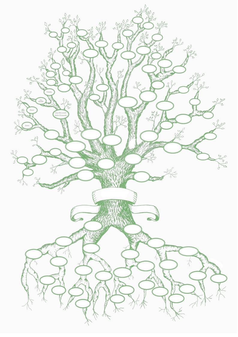 Картинка генетического дерева